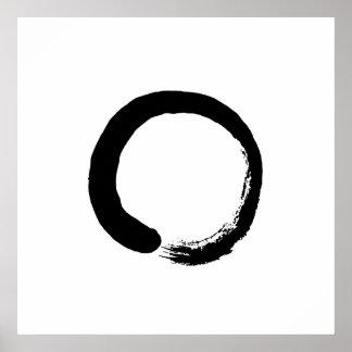 Ensō Zen-Kreis-Kalligraphie-Plakat Poster