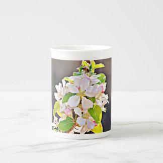 """Entbeinen Sie China-Schale/Tasse """"Apfelbaum-Blüten Porzellantasse"""