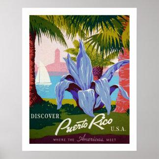 Entdecken Sie Reise, Puerto- Ricogeschichte Poster