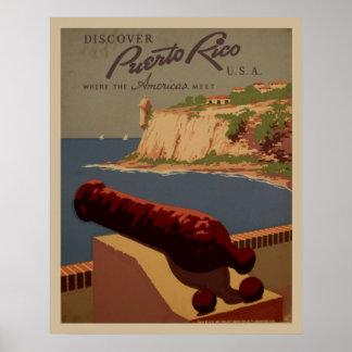 Entdecken Sie Vintages Plakat Puertos Rico