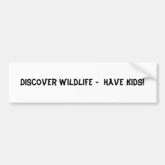 Entdecken Sie wild lebende Tiere - haben Sie Autoaufkleber