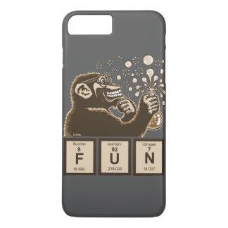 Entdeckter Spaß der Chemie Affe iPhone 8 Plus/7 Plus Hülle