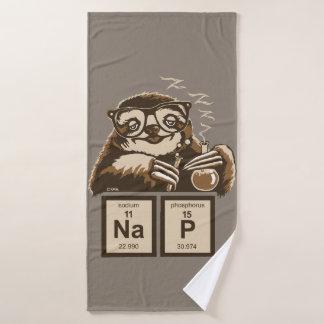 Entdecktes Nickerchen der Chemie Sloth Badhandtuch Set