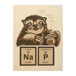 Entdecktes Nickerchen der Chemie Sloth Holzdruck
