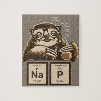 Entdecktes Nickerchen der Chemie Sloth Puzzle