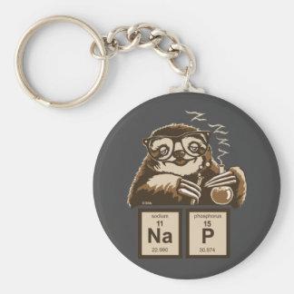 Entdecktes Nickerchen der Chemie Sloth Schlüsselanhänger