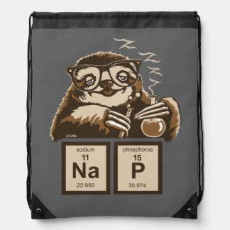 Entdecktes Nickerchen der Chemie Sloth Sportbeutel