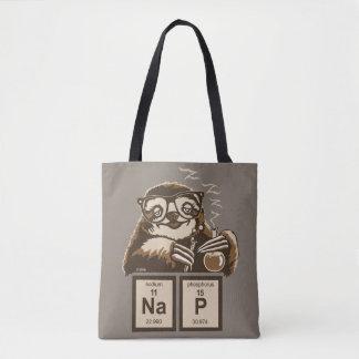 Entdecktes Nickerchen der Chemie Sloth Tasche