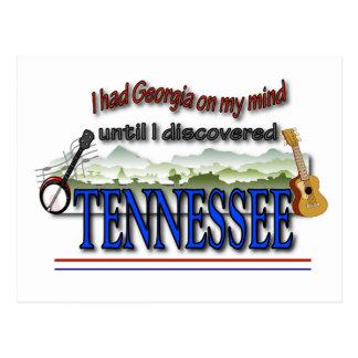 Entdecktes Tennessee Postkarte