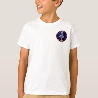 Entdeckungs-Auftrag-Flecken-Logo der T-Shirt