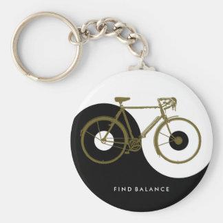 ENTDECKUNGS-BALANCE/yin Yang-Fahrrad Schlüsselanhänger