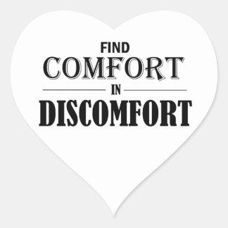 Entdeckungs-Komfort im Unbehagen Herz-Aufkleber