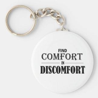 Entdeckungs-Komfort im Unbehagen Schlüsselanhänger