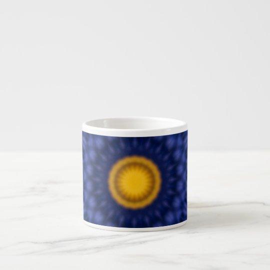 Ente auf blauem Kaleidoskop… Espressotasse