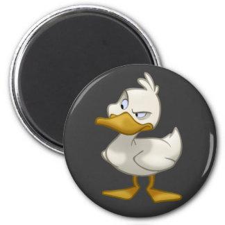 Ente auf einem Magneten Runder Magnet 5,1 Cm