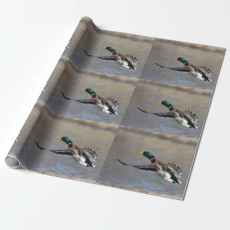 Ente im Flug Geschenkpapier