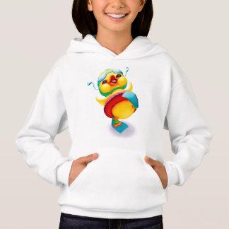 Ente mit Schwimmen-Gang-MädchenHoodie Hoodie