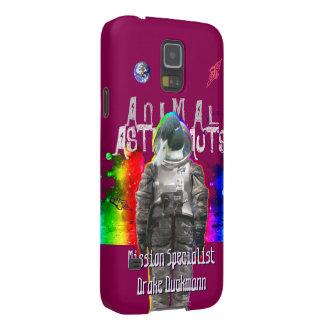 Enten-Astronaut im Regenbogen-Raum Samsung S5 Hüllen