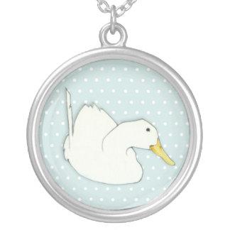 Enten-Bad punktiert Silber überzogene Halskette