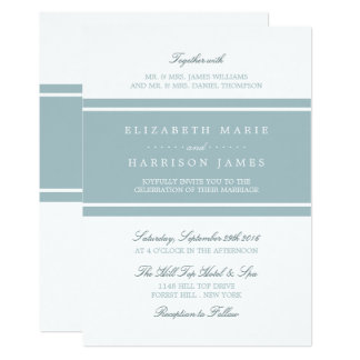 Enten-Ei-blaue moderne Hochzeit Karte