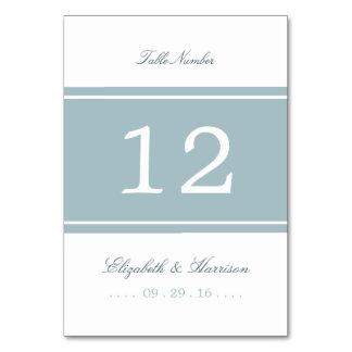 Enten-Ei-blaue moderne Hochzeits-Tabelle nein