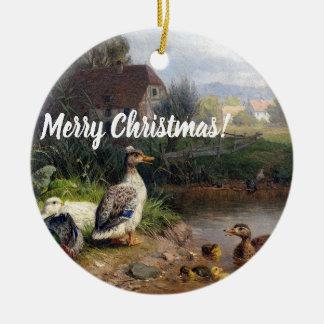 Enten-Entlein-Vogel-Teich-Tierweihnachtsverzierung Keramik Ornament
