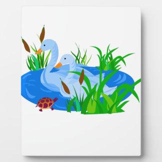 Enten im Wasser Fotoplatte