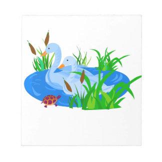 Enten im Wasser Notizblock