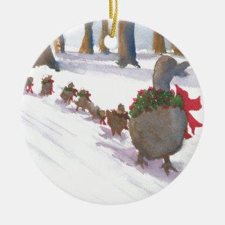 Enten in Boston allgemein während der Keramik Ornament