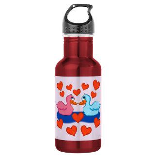 Enten in der Liebe-Wasser-Flasche Trinkflasche