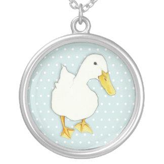 Enten-Kuss punktiert Silber überzogene Halskette