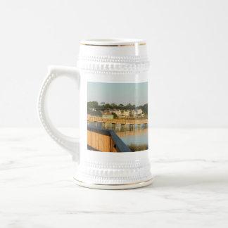 Enten-North Carolina-Promenade und Ton Bierglas