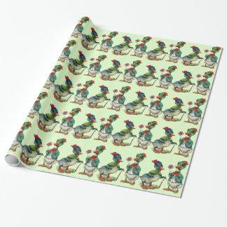 Enten-romantisches Geschenkpapier