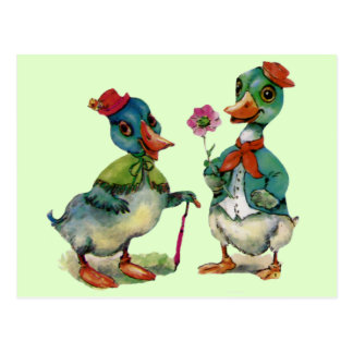 Enten-romantisches Postkarte