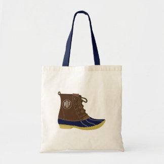 Enten-Stiefel-mit Monogramm Taschen-Tasche Tragetasche