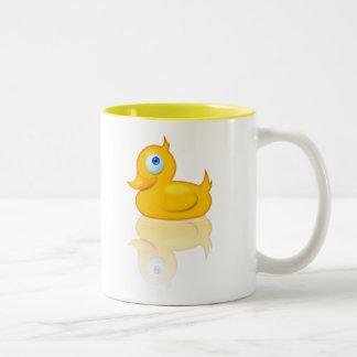 Enten-Tasse! Zweifarbige Tasse