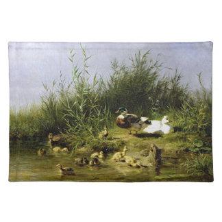 Enten-Vogel-Tier-Tier-Teich-Tischset Tischset