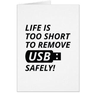 Entfernen Sie USB sicher Grußkarte