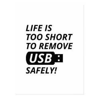 Entfernen Sie USB sicher Postkarte
