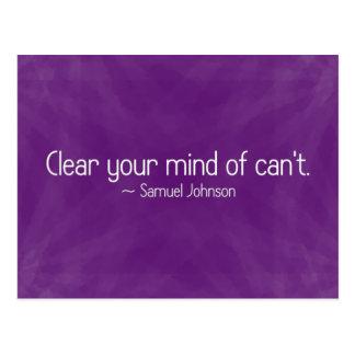 Entfernen Sie Zweifel von Ihrem Verstand (2) Postkarte