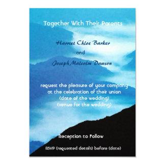 Entfernte Berge/Hochzeits-Einladung