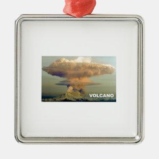 Entfernter Vulkan Silbernes Ornament