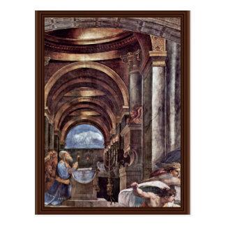 Entfernung von Heliodorus vom Tempel in Jerusal Postkarte