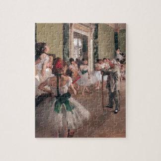 Entgasen Sie Ballett-Malerei, alte Ballettklasse Puzzle