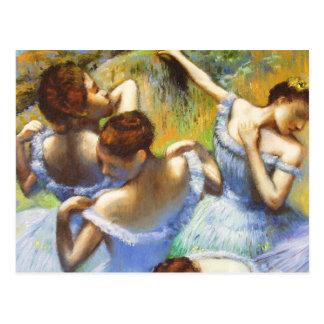 Entgasen Sie blaue Tänzer-Postkarte
