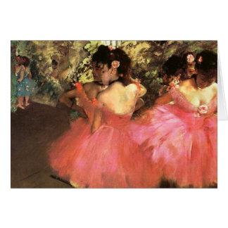 Entgasen Sie Tänzer in der rosa Anmerkungs-Karte Karte