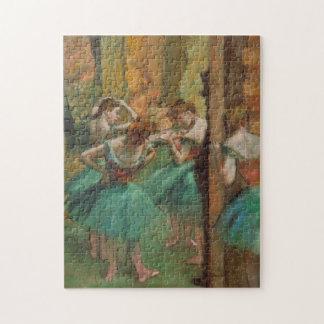 Entgasen Sie Tänzer Rosa und Grün Puzzle