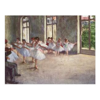 Entgasten Ballett-Probe Postkarte