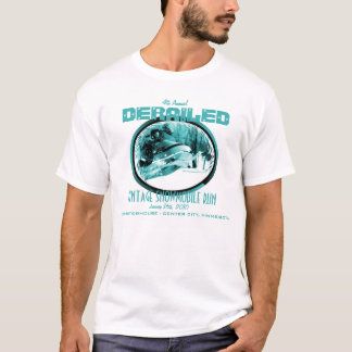 ENTGLEISTER Vintager Snowmobile-Lauf 2010 T-Shirt