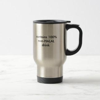 enthält 100% nicht-HALAL Getränk Reisebecher